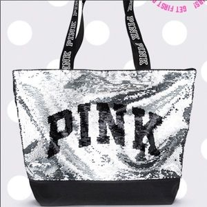 🆕 Victoria Secret Pink sequin tote